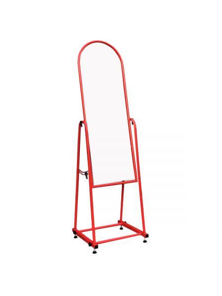 Зеркало металлическое для одежды 35 см красное ZT 03