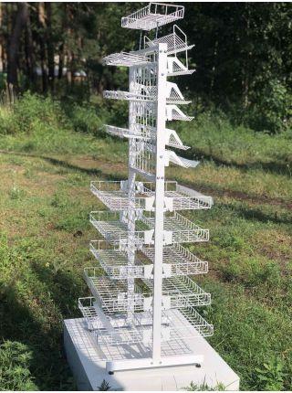 Универсальный металлический стеллаж стенд 60 см
