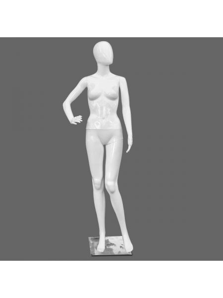 Манекен женский реалистичный белый Код: М-22