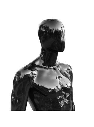Манекен мужской черный в ролный рост lКод: М- 17
