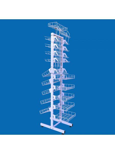 Универсальный металлический стеллаж стенд  30 см