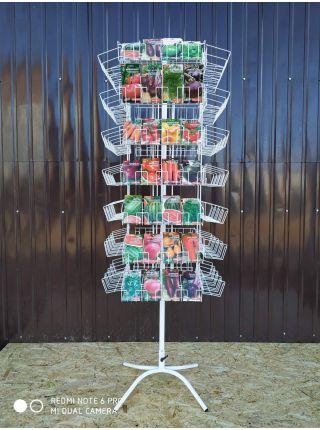 Стойка вертушка для семян и специй на 112 карманов
