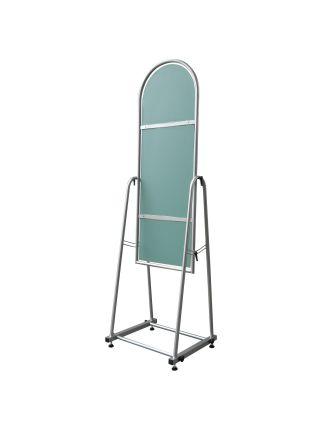 Зеркало металлическое для одежды 30 см серое ZT 14