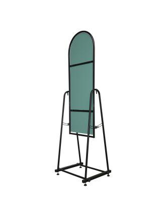 Зеркало металлическое для одежды  30 см черное ZT 36