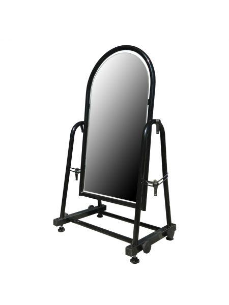 Зеркало металлическое для обуви 30 см черное ZT 35