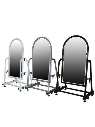 Зеркало металлическое для обуви 30 см серое ZT 08