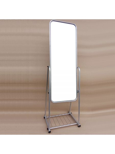 Зеркало металлическое для одежды  40 см серое ZT 41