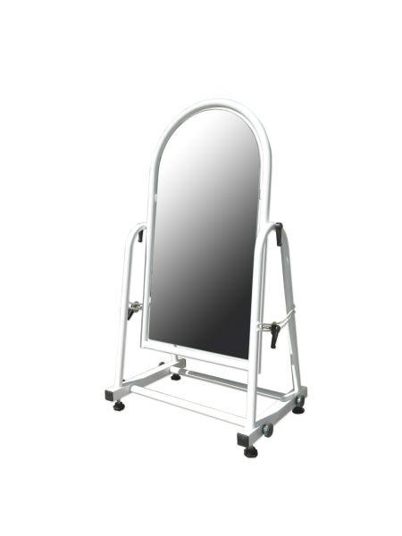 Зеркало металлическое для обуви 30 см белое ZT 34