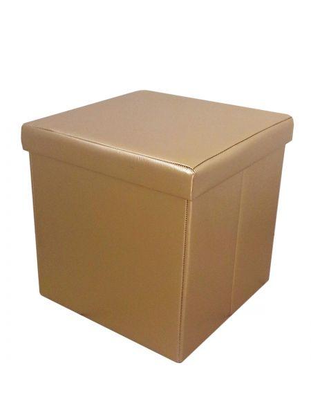 Пуфик в примерочную кабинку золото