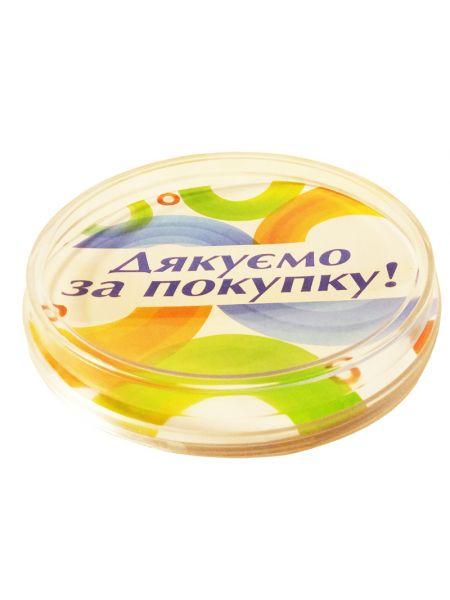 Акриловая подставка монетница 2