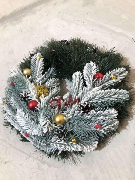 Венок новогодний рождественский  11