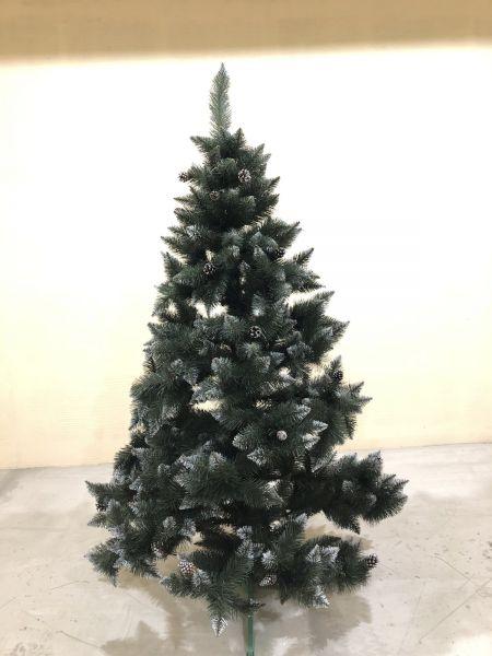 Искусственная елка Ель (элита) с белыми кончиками и шишками  все размеры 06
