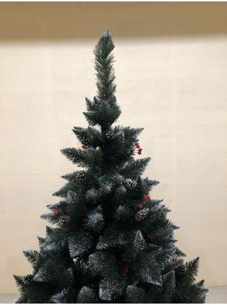 Искусственная елка Ель (элита) с калиной и шишками  все размеры 07