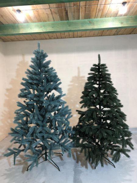 Искусственная елка Ель (роял) зелёная и голубая все размеры 10