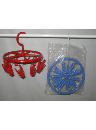 Вертушка круглая с прищепками пластмассовая Польская WCS 03