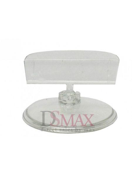 Пластиковые ценникодержатели на круглой подставке цвет прозрачный Код: 05-02-02