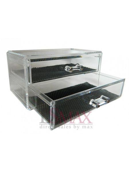 Органайзер с двумя выдвижными ящиками для украшений Код: SF-1005-3
