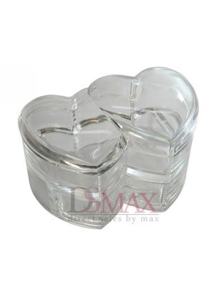 Акриловый косметический органайзер Два сердца Код: SF-2134