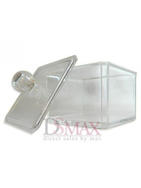 Акриловы контейнер с крышкой для гигиенических принадлежностей Код: SF-1181