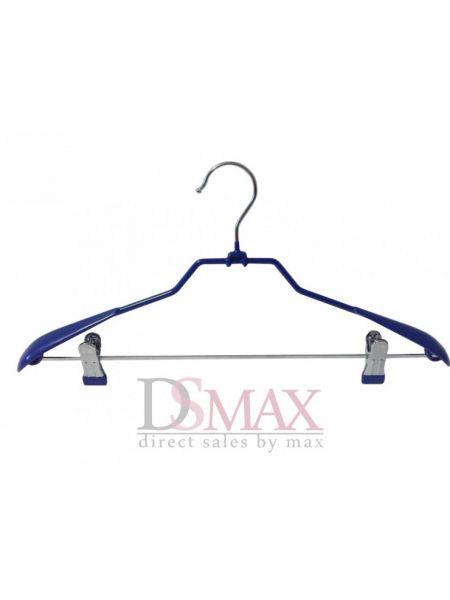 Плечики костюмные в силиконе с прищепками Fashion paris TM 48