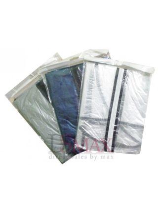 Чехол для одежды серый 60х90см