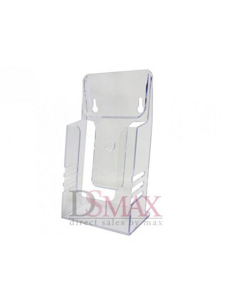 Акриловая буклетница евро-флаер формат 1/3 А-4 Код: 03-10-01