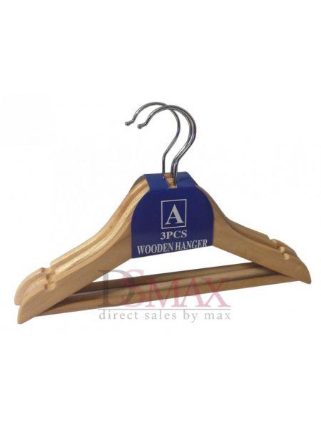 Деревянный тремпель для детской одежды