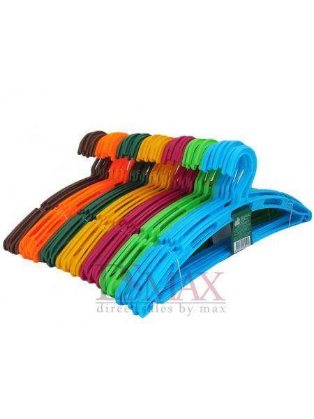 Плечики цветные пластиковые Ажур с перекладиной TP 60
