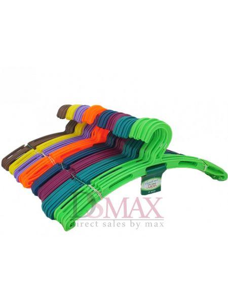 Плечики цветные пластиковые Ажур без перекладиныTP 61