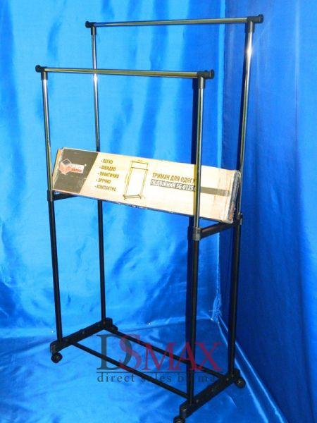 Стойка двойная для одежды мобильная PRO Запас VSK 02