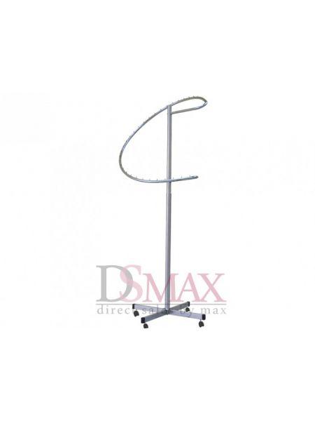 Стойка (вешало) для одежды Спираль мобильная VST 03