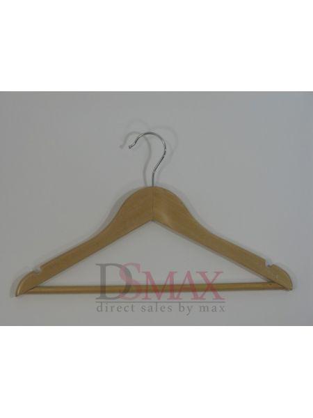 Красивый тремпель для детской одежды из дерева TD 04