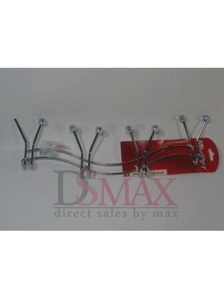 Крючки хромированные для ванной Besser четыре крючка