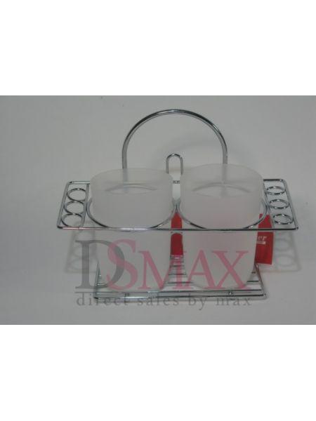 Подставка BESSER для зубных щеток двойная на шесть щеток