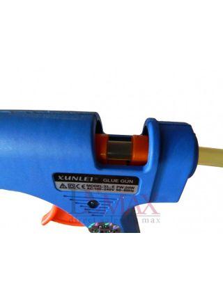 Термопистолет клеевой цвет синий