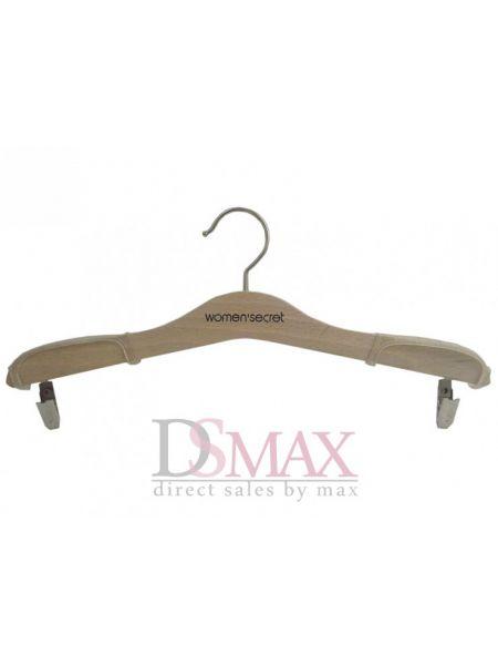 Плечики для верхней одежды с прищепками ЕTD 09