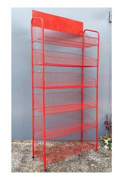 Стеллаж Колосок красный на 6 полок (900 мм)